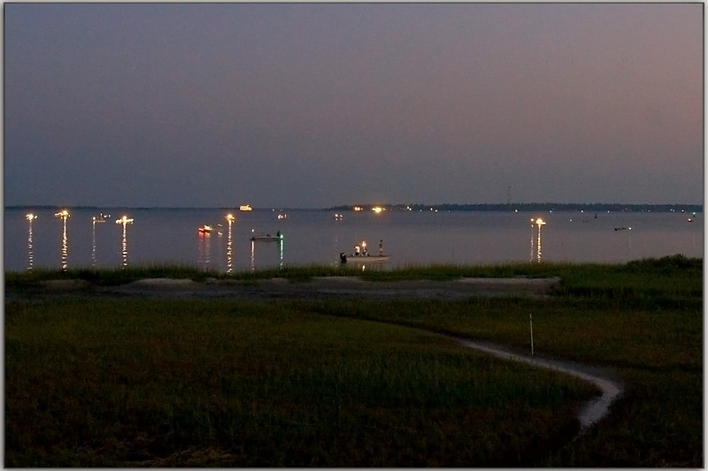 Shrimp Season for the common man: opening day/night.<br /> 9/15/2006  Charleston Harbor