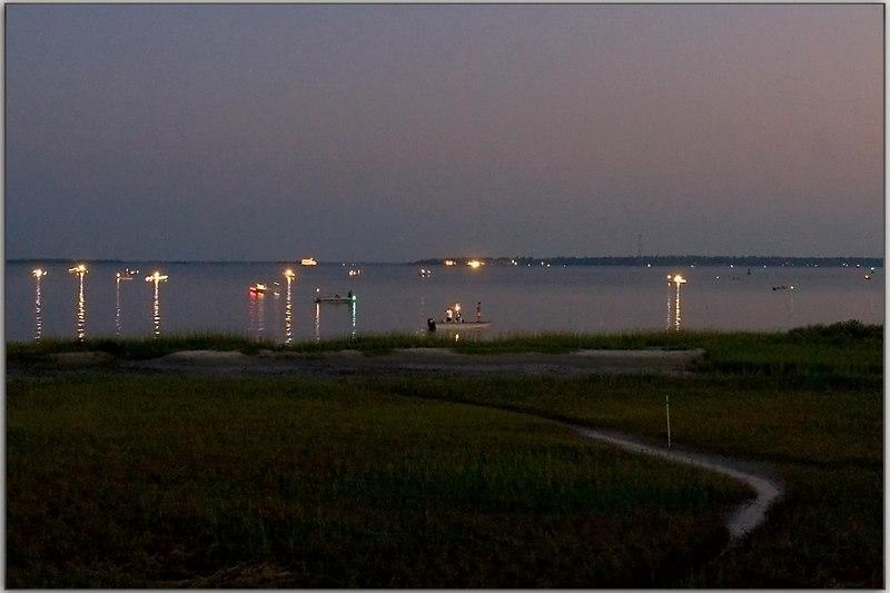 Shrimp Season for the common man: opening day/night.<br /> 9/15/2006  Charleston Harbor