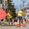 Unitil replacing a gas line on South Street in Fitchburg on Tuesday April 11, 2017. SENTINEL & ENTERPRRISE/JOHN LOVE