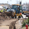 Unitil replacing a gas line just off of Luenburg Street in Fitchburg on Tuesday April 11, 2017. SENTINEL & ENTERPRRISE/JOHN LOVE