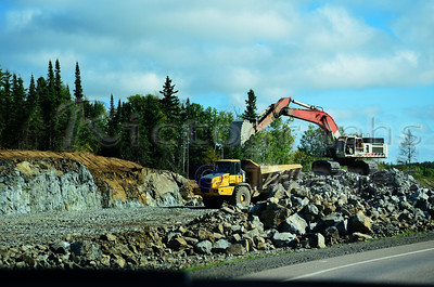 Construction on The Trans Canada Highway