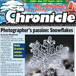 1567 p. 01 Holly Greene snowflakes, Christmas bird count, abortion letters, tuba twins Qby, TV-watching dogs.indd