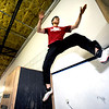 "Instructor Ken Kao demonstrates a wall switching technique during an intermediate level Parkour class at APEX Movement in Boulder on Monday June 13, 2011.<br /> Photo by Paul Aiken / The Camera<br /> For more photos and a video of the workout go to  <a href=""http://www.dailycamera.com"">http://www.dailycamera.com</a>"