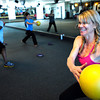 "Instructor Cydney Brooks demonstrates an exercise during the Awesome Abs class at Rallysport in Boulder. Photo by Paul Aiken / The Boulder Camera / December 8, 2011<br /> For more photos and a video of the class go to  <a href=""http://www.dailycamera.com"">http://www.dailycamera.com</a>"