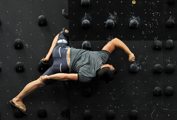 "Brent Ng warms up for a workout at Ascendance in Boulder.<br /> For more photos and video of AscenDance, go to  <a href=""http://www.dailycamera.com"">http://www.dailycamera.com</a>.<br /> Cliff Grassmick / May 3, 2012"