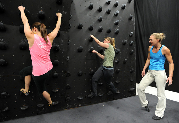 "Berkeley Almand, left, and Heather Seeley, get instruction from instructor, Isabel von Rittberg of Ascendance.<br /> For more photos and video of AscenDance, go to  <a href=""http://www.dailycamera.com"">http://www.dailycamera.com</a>.<br /> Cliff Grassmick / May 3, 2012"