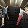 "Phil Kulikauskas, left, Brent Ng, Gordon Graham,  and Berkeley Almand, work on a routine on the climbing wall.<br /> For more photos and video of AscenDance, go to  <a href=""http://www.dailycamera.com"">http://www.dailycamera.com</a>.<br /> Cliff Grassmick / May 3, 2012"