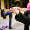 F0110WORKOUT4.jpg F1011WORKOUT4<br /> Jenny McClintock, closetest to camera, during a Barre Bodies workout at the Mountainside Dance Studio in Longmont on Thursday, January 5th, 2012. <br /> <br /> <br /> Photo by: Jonathan Castner
