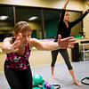 F0110WORKOUT2.jpg F1011WORKOUT2<br /> L-R: Cindy McGee and Mary Compton-Craig during a Barre Bodies workout at the Mountainside Dance Studio in Longmont on Thursday, January 5th, 2012. <br /> <br /> <br /> Photo by: Jonathan Castner