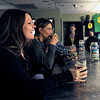 "Stacey Mulvey, of Boulder, left, and Diane Friedman, of Boulder, center, enjoy a beer after a beerasana yoga class at Asher Brewing Co. on Nautilus Court in Boulder. For more photos and video of the class go to  <a href=""http://www.dailycamera.com"">http://www.dailycamera.com</a><br /> Jeremy Papasso/ Camera"