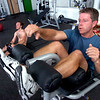 "Chris Bachmeyer, does a Rocky moves as he punches the air on the incline bench in the BLAST Abs class at Movement Climbing and Fitness on August 27, 2010.<br /> FOR A VIDEO OF THE CLASS GO TO  <a href=""http://WWW.DAILYCAMERA.COM"">http://WWW.DAILYCAMERA.COM</a><br /> Photo by Paul Aiken /  August 27, 2010."
