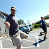 """Instructor Heath Croll, at left leads Matthew Seagal and the rest of the  BLAST Cardio class at Movement Climbing and Fitness on August 27, 2010.<br /> FOR A VIDEO OF THE CLASS GO TO  <a href=""""http://WWW.DAILYCAMERA.COM"""">http://WWW.DAILYCAMERA.COM</a><br /> Photo by Paul Aiken /  August 27, 2010."""