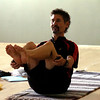 "Instructor Makaan Burt uses stones in a strenth and balancin pose during the Core Stone Yoga at the YMCA of Boulder Valley Arapahoe Branch on Thursday April 21, 2011.<br /> For more photos and a video of the class go to  <a href=""http://www.dailycamera.com"">http://www.dailycamera.com</a>.<br /> Photo by Paul Aiken / The Camera / <br /> Workout of the Week"