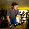 "Luke Hanley works on a stationary bike during the Cycle/Yoga class at the Louisville Recreation Center on Monday October 18, 2010. FOR MORE PHOTOS GO TO  <a href=""http://WWW.DAILYCAMERA.COM"">http://WWW.DAILYCAMERA.COM</a><br /> cycle<br /> yoga"