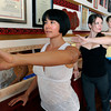 """Vivienne Palmer, of Boulder, left, Instructor Stacey Mulvey and Tabitha Farrar work out during a Callanetics workout class on Wednesday, Nov. 7, at A Place to Be Studio in Boulder. For a video of the class go to  <a href=""""http://www.dailycamera.com"""">http://www.dailycamera.com</a><br /> Jeremy Papasso/ Camera"""