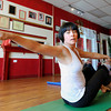 "Vivienne Palmer, of Boulder, works out during a Callanetics workout class on Wednesday, Nov. 7, at A Place to Be Studio in Boulder. For a video of the class go to  <a href=""http://www.dailycamera.com"">http://www.dailycamera.com</a><br /> Jeremy Papasso/ Camera"
