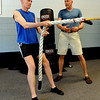 "Fitness coach, Matt Hoskins, right, works with Simon Martin on a workout routine. Martin is the Masters cross country world champion.<br />  Cheetahfit  training exercises are based on the natural evolution of human movement. <br /> For a video and more photos from the workout, go to  <a href=""http://www.dailycamer.com"">http://www.dailycamer.com</a>.<br /> Cliff Grassmick / August 25, 2011"