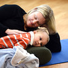 TODDLER_151.jpg Emily Garabed lays with her son Grant Garabed, 2, during the Chillaxed Mommy and Toddler class Wednesday Jan. 30, 2013 at the The Family Garden Parenting and Resource Center, 600 Airport Rd., Longmont. (Lewis Geyer/Times-Call)