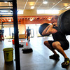 "Nik Lehnert, 23, lifts weights at Crossfit Sanitas in Boulder on Monday Feb. 18, 2013. DAILY CAMERA/ JESSICA CUNEO. <br /> To watch a video and see more photos go to  <a href=""http://www.dailycamera.com"">http://www.dailycamera.com</a>."