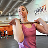 "Kendra Lee of Boulder, 29, gets ready to lift at Crossfit Sanitas in Boulder on Monday Feb. 18, 2013. DAILY CAMERA/ JESSICA CUNEO. <br /> To watch a video and see more photos go to  <a href=""http://www.dailycamera.com"">http://www.dailycamera.com</a>."