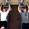 "Tristan Plank, at left and Dusty Johnson during a workout in the Force of Gravity strength training class at the Boulder Center for Sports Medicine on Tuesday March 16, 2010.<br /> For more photos go to  <a href=""http://www.dailycamera.com"">http://www.dailycamera.com</a><br /> Photos by Paul Aiken / The Camera /"