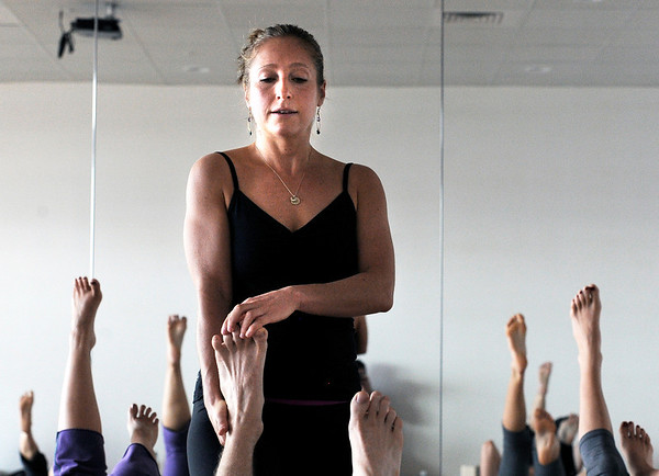 "Yoga instructor Jo Schaalman during a Forrest Yoga class on Friday, Dec. 9, at the Yoga Pod on 29th Street in Boulder. For more photos and video of the class go to  <a href=""http://www.dailycamera.com"">http://www.dailycamera.com</a><br /> Jeremy Papasso/ Camera"