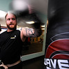 "Jamie Maples works on his backfist during a kickboxing class at itsera Family Fitness in Niwot on Thursday August 11, 2011.<br /> For more photos and a video from the class go to  <a href=""http://www.dailycamera.com"">http://www.dailycamera.com</a><br /> Photo by Paul Aiken  August 11, 2011."