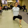 Mike Welsh, left Heather Underwood, center, and Andrea Herrera and stretch during warm-ups at the Colorado Krav Maga Regional Training Center in Broomfield on Wednesday.