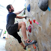 "Kris Peters works his way up climbing wall during the Movement 101 class at Movement Climbing + Fitness in Boulder on Tuesday April 10, 2012<br /> For more photos and a video of class  go to  <a href=""http://www.daliycamera.com"">http://www.daliycamera.com</a><br /> April 10, 2012.<br /> Photo by Paul Aiken / The Camera"