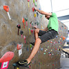 "Instructor Drew Heckman explains some techniques as he works his way up a climbing was during the Movement 101 class at Movement Climbing + Fitness in Boulder on Tuesday April 10, 2012<br /> For more photos and a video of class  go to  <a href=""http://www.daliycamera.com"">http://www.daliycamera.com</a><br /> April 10, 2012.<br /> Photo by Paul Aiken / The Camera"