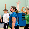 "Instructor Natalie Lovstedt leads Nicole Donohue and Judy Reich, at right, in some dance moves during the Power of Three class at the St.Vrain Memorial Building in Longmont on Wednesday December 21, 2011. For a video and more photos from the class go to  <a href=""http://www.dailycamera.com"">http://www.dailycamera.com</a>.<br /> Photo by Paul Aiken"