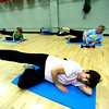 "Melissa Hornbaker front works on a series of leg lifts during the Power of Three class at the St.Vrain Memorial Building in Longmont on Wednesday December 21, 2011. With Hornbaker from left is Roni Kipetzky, Judy Reich and Carla Larson. For a video and more photos from the class go to  <a href=""http://www.dailycamera.com"">http://www.dailycamera.com</a>.<br /> Photo by Paul Aiken"