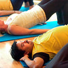 """Ganesh Krishnan does a core lift during a pilates seminar for barefoot or minimal runners at the Pat Guyton Pilates in Boulder on Sunday January 10, 2010.  For more photos of the workout of the week go to  <a href=""""http://www.dailycamera.com"""">http://www.dailycamera.com</a>.<br /> Photo by Paul Aiken / The Boulder Camera / January 10, 2010"""