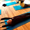 """Tom Masterson prepares to do a core lift during a pilates seminar for barefoot or minimal runners at the Pat Guyton Pilates in Boulder on Sunday January 10, 2010.  For more photos of the workout of the week go to  <a href=""""http://www.dailycamera.com"""">http://www.dailycamera.com</a>.<br /> Photo by Paul Aiken / The Boulder Camera / January 10, 2010"""