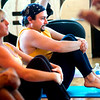 """Vincent Gerbino works hard on a balancing exercise during a pilates seminar for barefoot or minimal runners at the Pat Guyton Pilates in Boulder on Sunday January 10, 2010.  For more photos of the workout of the week go to  <a href=""""http://www.dailycamera.com"""">http://www.dailycamera.com</a>.<br /> Photo by Paul Aiken / The Boulder Camera / January 10, 2010"""