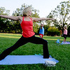 "Linzee Klinkenberg, left,  teaches a PowerFit Yoga class at Chautauqua Park in Boulder, CO on August 9, 2012.<br /> For a video and more photos of PowerFit Yoga, go to  <a href=""http://www.dailycamera.com"">http://www.dailycamera.com</a><br /> Cliff Grassmick  / August 9, 2012"