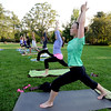 "Lesley Wujastyk, right, joins others in a PowerFit Yoga class.<br /> Linzee Klinkenberg teaches a PowerFit Yoga class at Chautauqua Park in Boulder, CO on August 9, 2012.<br /> For a video and more photos of PowerFit Yoga, go to  <a href=""http://www.dailycamera.com"">http://www.dailycamera.com</a><br /> Cliff Grassmick  / August 9, 2012"