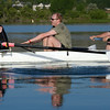 "Tom Carr, left, Alex Pukinskis, and Don Wharton, row as part of an 8-person crew for the Boulder Rowing Club.<br /> For a video and more photos of the rowing class, go to  <a href=""http://www.dailycamera.com"">http://www.dailycamera.com</a><br /> Cliff Grassmick / June 22, 2012"