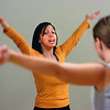"Instructor Angela Gerardi leads in a vocalizing exercise during the Tao Power class at the Soul Tree Studio in Lafayette on Tuesday November 30, , 2010.<br /> Photo by Paul Aiken / The Camera For more photos and a video of the class go to  <a href=""http://www.dailycamera.com"">http://www.dailycamera.com</a>."