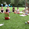 "Jeanie Manchester, center, teaches yoga in Central Park on Sunday.<br /> ""Yoga Rocks the Park"" began in Boulder's Central Park on Sunday. The yoga and music gathering will continue every Sunday through September 19, 2010.<br /> For more photos and a video of yoga in the park, go to  <a href=""http://www.dailycamera.com"">http://www.dailycamera.com</a>.<br /> Cliff Grassmick / August 8, 2010"
