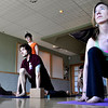 "Jessica Van Antwerp, left, Andrew Tompkins, and Elizabeth Banker participate in a Yoga for Wellness class at Bodywork Bistro in Boulder on Monday Dec. 10, 2012. DAILY CAMERA/ JESSICA CUNEO. <br /> For video and a photo gallery go to  <a href=""http://www.dailycamera.com"">http://www.dailycamera.com</a>"