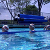 Jackie, Tom and Nancy listening up for the next backstroke adventure.
