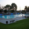Just before the evening workout at Ranch Simi Park Pool.