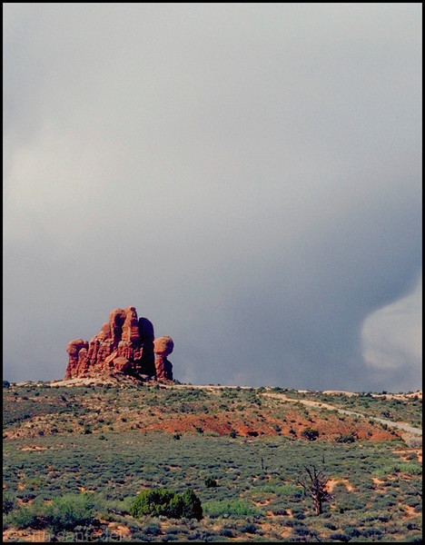 Approaching storm at Arches National Park, Utah