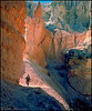 Hiker on Peek-a-boo trail, Bryce Canyon National Park, Utah