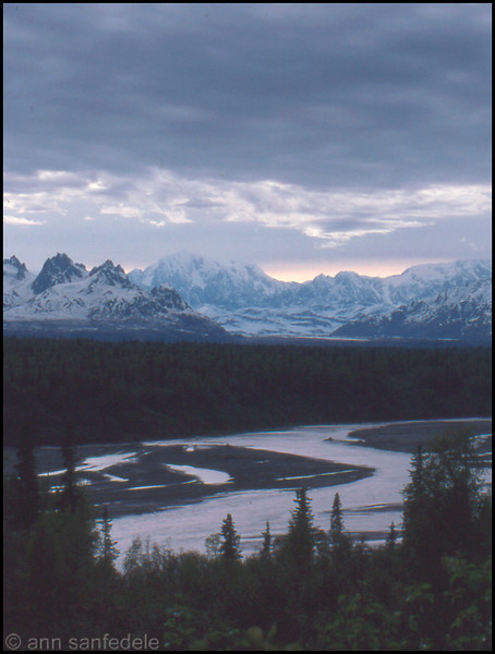 Denali from an overlook on the George Parks Highway, Alaska
