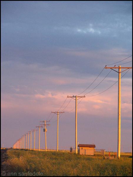 Back road in the prairie west of Regina,Saskatchewan