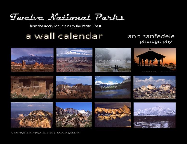 National parks calendar cover
