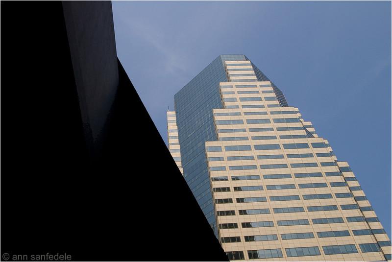 Skyline - just looking up in lower Manhattan