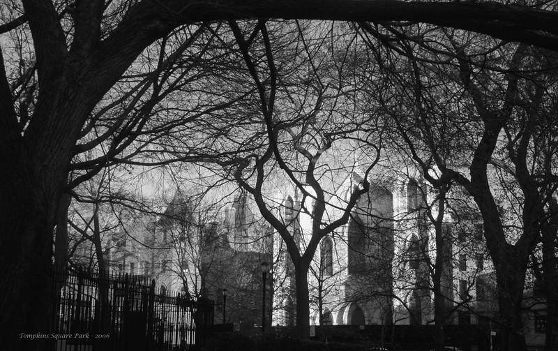 Tompkins Square park late december